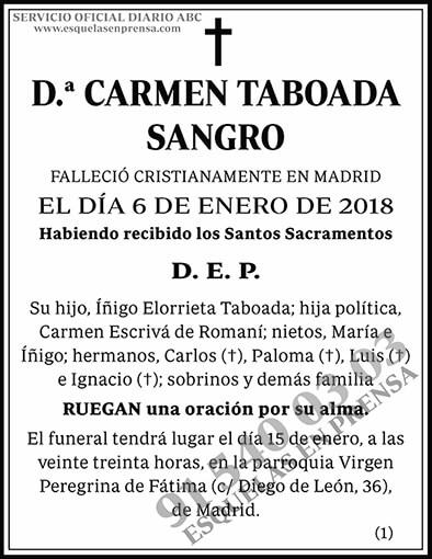 Carmen Taboada Sangro
